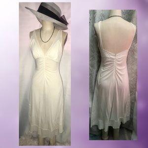 MaxAzria Collection white slip dress size Small